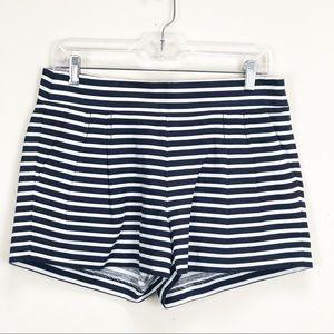J. Crew nautical pleated shorts